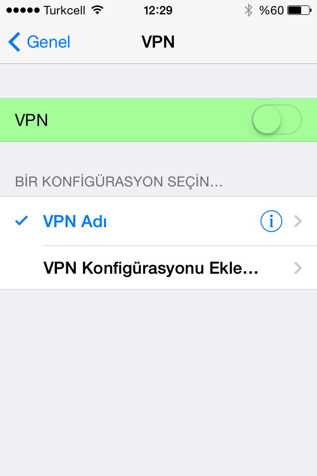 VPN bağlantısı kurma
