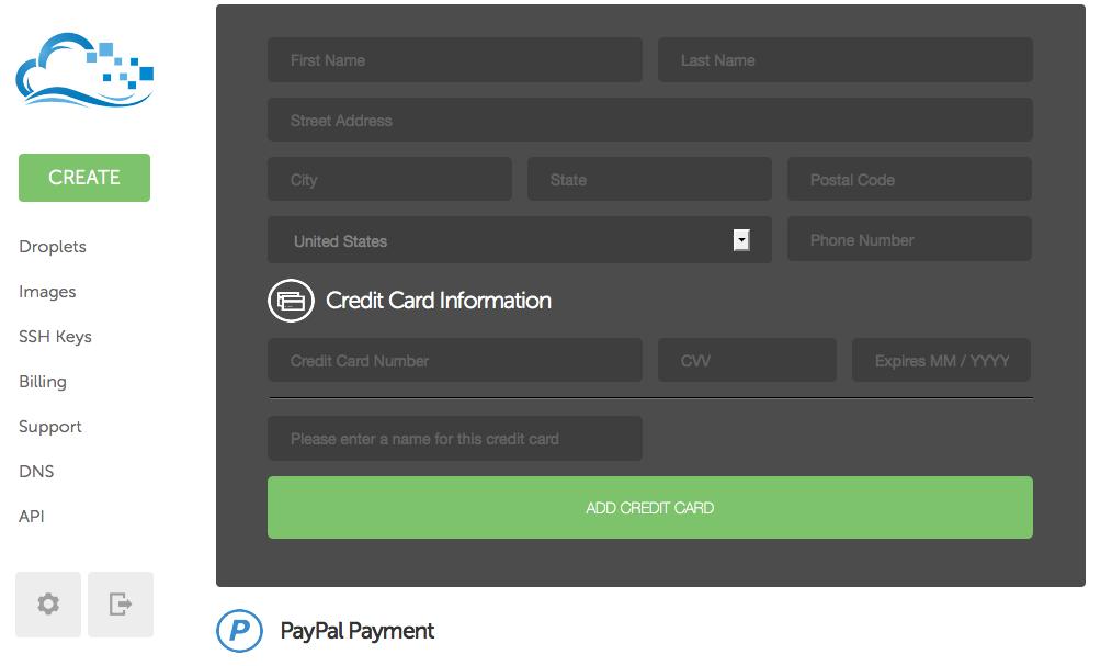 Kredi kartı tanımlama ekranı